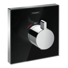 Смеситель встроенный термостат Hansgrohe ShowerSelect Highflow 15734600 стеклянный/черный..