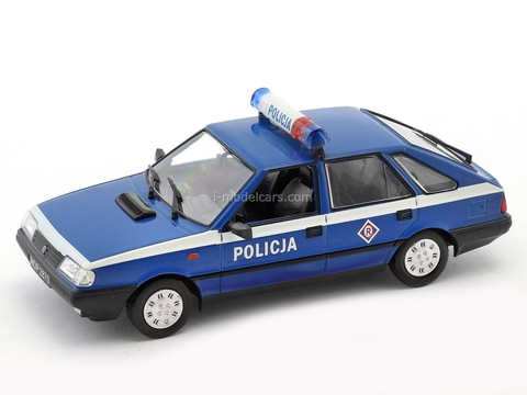 FSO Polonez Caro Police blue-white 1:43 DeAgostini Kultowe Auta PRL-u