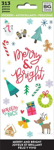 Блокнот со стикерами-MAMBI Stickers -313шт -Merry And Bright