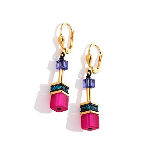 Серьги Coeur de Lion 2838/20-1550 цвет мультиколор, розовый, фиолетовый