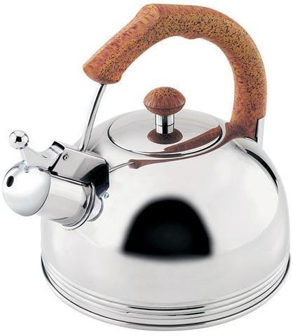 Чайник Wellberg Ergoria 2.3л из нержавеющей стали со свистком (WB-509)