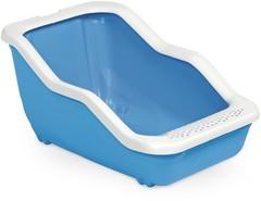 MPS туалет-лоток NETTA Open 54х39х29h см с рамкой голубой