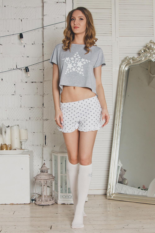 Модная пижама женская из шорт и топа (Женские пижамы)