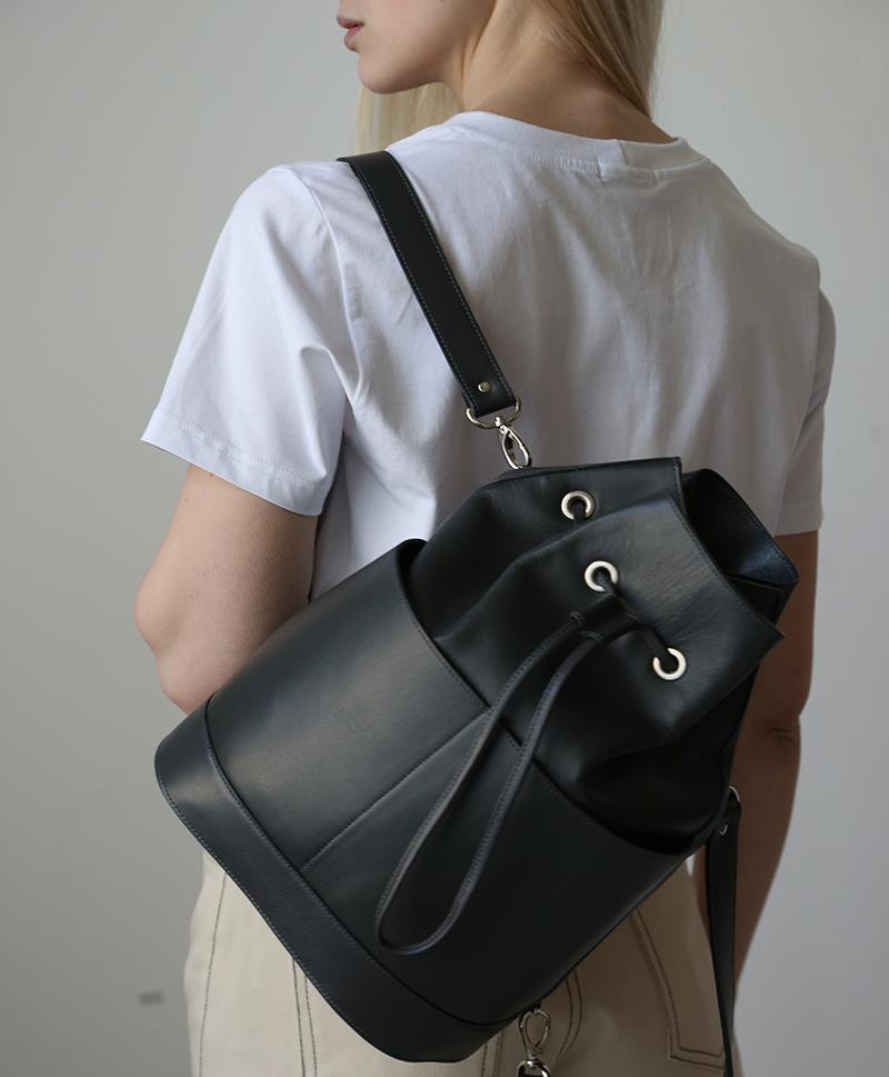 Рюкзак-торба серого цвета