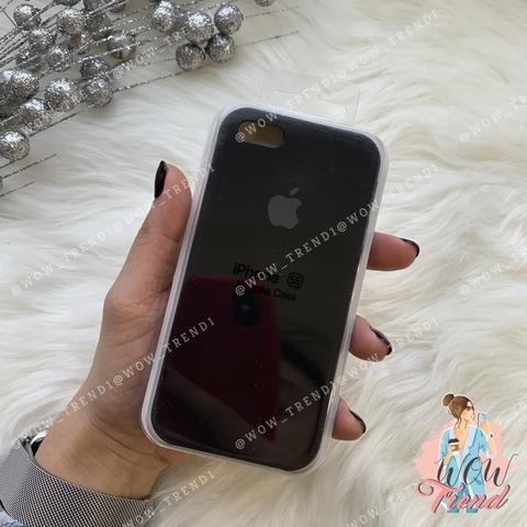 Чехол iPhone 5/5s/SE Silicone Case /black/ черный 1:1