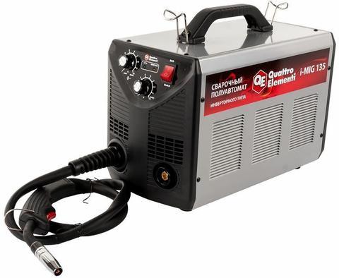 Аппарат полуавтомат. сварки, инвертор QUATTRO ELEMENTI  i-MIG 135 (120 А, ПВ 30%,  проволока 0,6-0,8мм, 10кг, 220В)