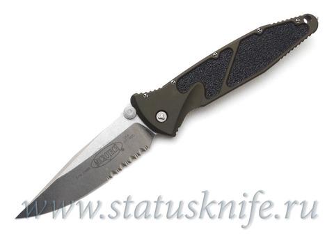 "Нож Microtech OD Green Socom Elite M/A Knife (4"" Stonewash Serr) 160-11GR"