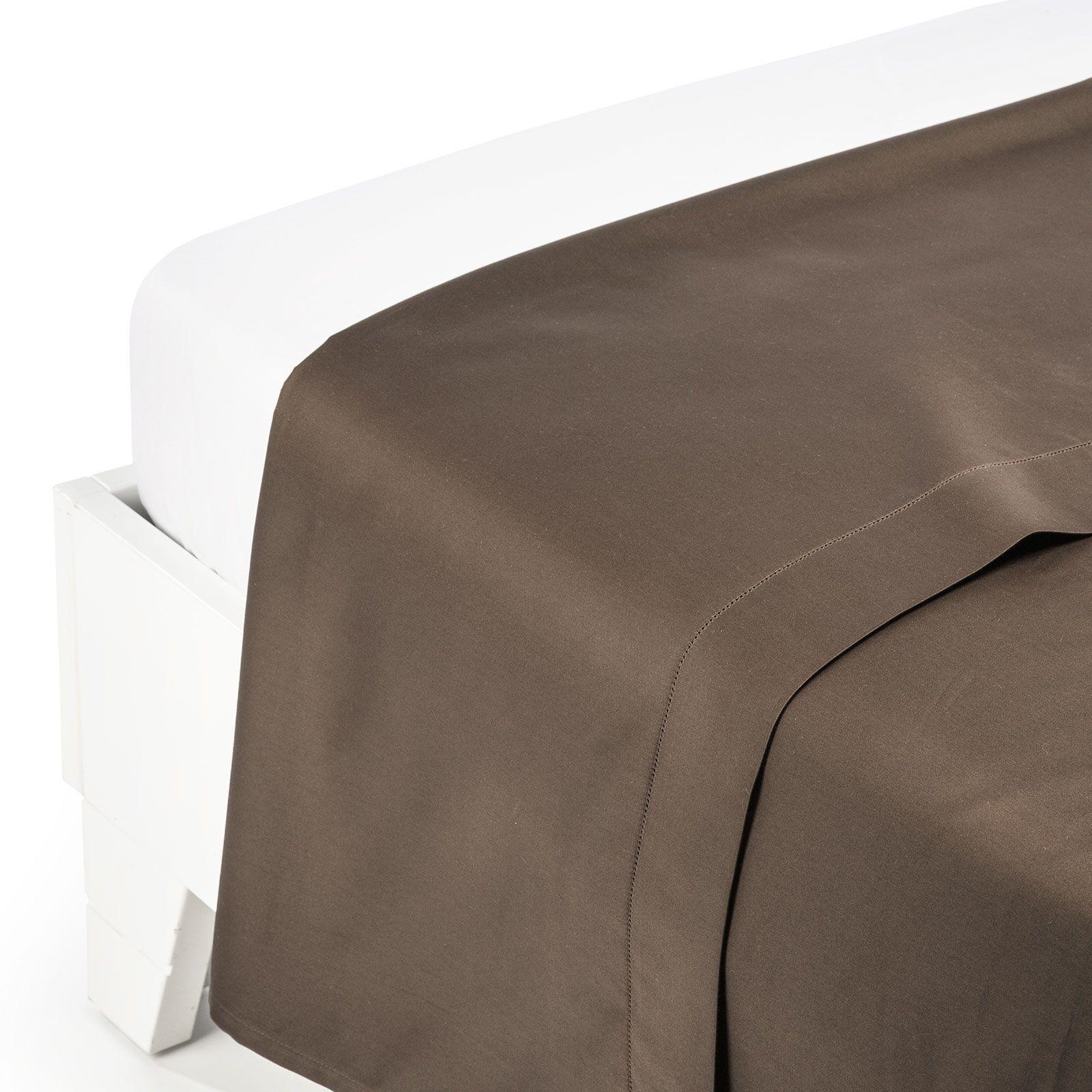 Прямые Простыня прямая 260x280 Сaleffi Raso Tinta Unito сатин темно-коричневая prostynya-pryamaya-caleffi-raso-tinta-unito-satin-caffe-italiya.jpg