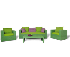 Комплект плетеной мебели Мэриленд зеленый
