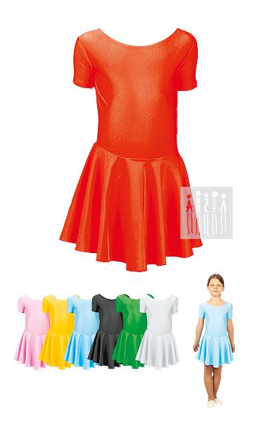 Детское платье для ритмики. 7 цветов на выбор! Купить в Москве и СПБ, есть доставка по России!