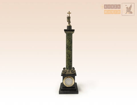 часы Александрийский столп бронза
