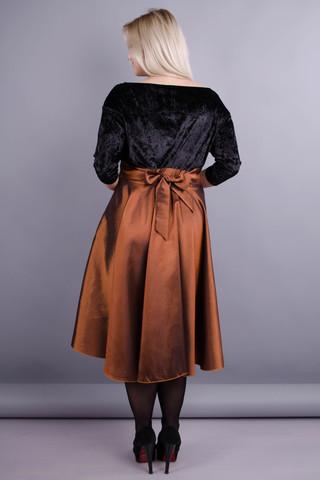 Одри. Женское нарядное платье больших размеров. Золото.
