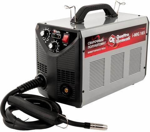 Аппарат полуавтомат. сварки, инвертор QUATTRO ELEMENTI  i-MIG 165 (150А, ПВ 30%, проволока 0,6-0,8мм, 11кг, 220В)