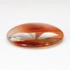 Кабошон круглый Агат красный, 30 мм