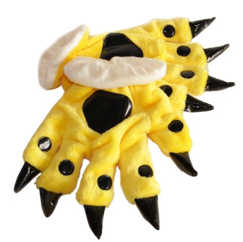 Перчатки кигуруми желтые 3