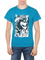 11112-3 футболка мужская, синяя