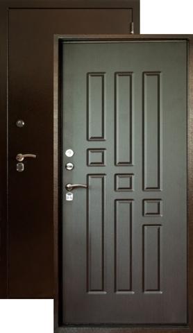 Дверь входная Форт Форт Т-41, 2 замка, 1,8 мм  металл, (медь антик+венге)