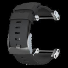 Ремешок плоский для часов Suunto Core (черный силиконовый) SS020341000