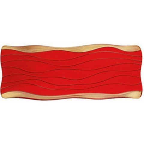Ocean Plate Red/Gold