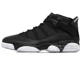 Кроссовки Мужские Nike Air Jordan 6 Rings Mid Basketball Shoe Black/White 322992-021
