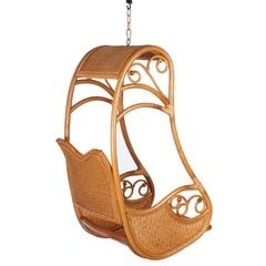 Подвесное кресло из натурального ротанга Hanging Honey (без стойки