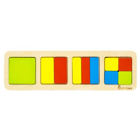 Рамки-вкладыши Alatoys Дроби Квадрат ДР1002