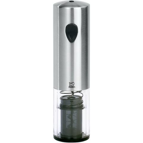 Штопор электрический 20 см артикул 200169, цвет матовая сталь + акрил ,Серия Elis