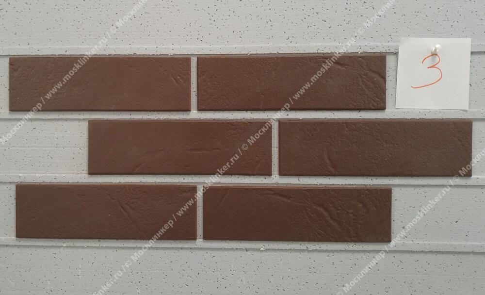 ABC - Alaska, Braun, genarbt, 240х71х7, NF - Клинкерная плитка для фасада и внутренней отделки