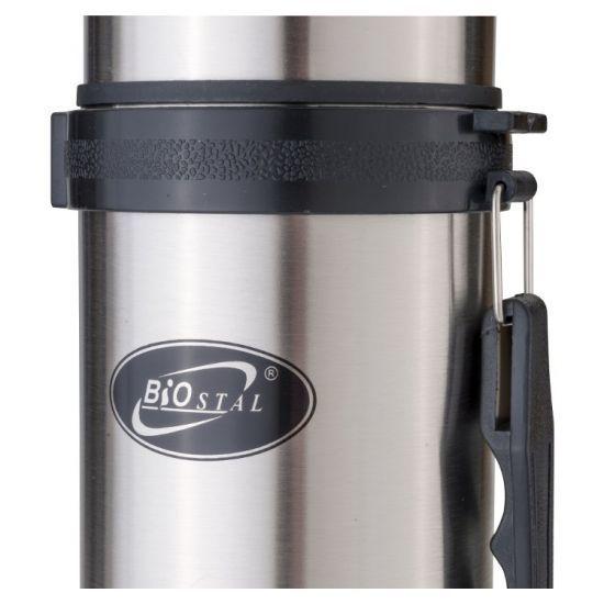 Термос Biostal (1,5 литра) с ручкой, стальной