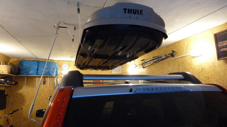 Подъемный механизм к потолку для чего угодно большого Thule