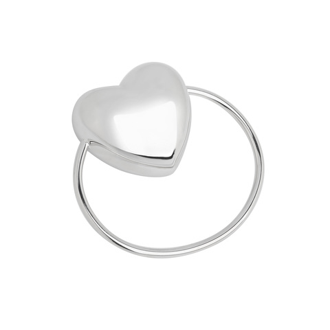 Серебряная погремушка «Сердце»