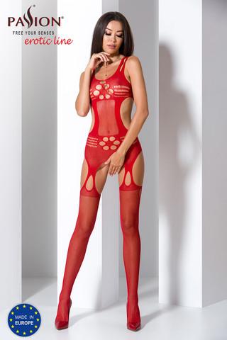 Эротический бодистокинг сетка красного цвета
