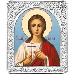 Святая Вера. Маленькая икона в серебряной раме.