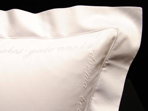 Наволочка 50х75 Christian Fischbacher Luxury Nights Sweet Dreams 557 белая