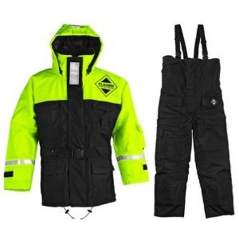 Fladen Jacket 846 + Trousers 847 Black/Yellow XL
