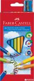 Набор цветных карандашей Faber-Castell Jumbo 10 шт