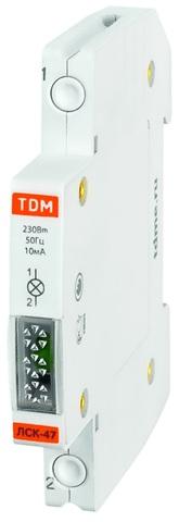 Лампа сигнальная компактная ЛСК-47 желтая (LED) AC/DC TDM
