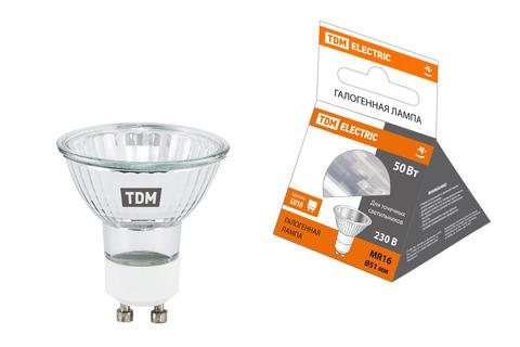 Лампа галогенная с отражателем MR16 (JCDRC) - 50 Вт - 230 В - GU10 TDM