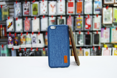 Чехол XO из ткани для iPhone 6/6S Blue