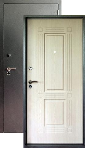 Дверь входная Форт Форт Т-42, 2 замка, 1,8 мм  металл, (серебро антик+беленый дуб)