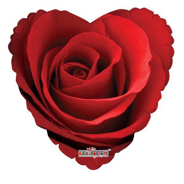 Шарики 8 марта Шарик из фольги Сердце Роза красная 6042608.jpg