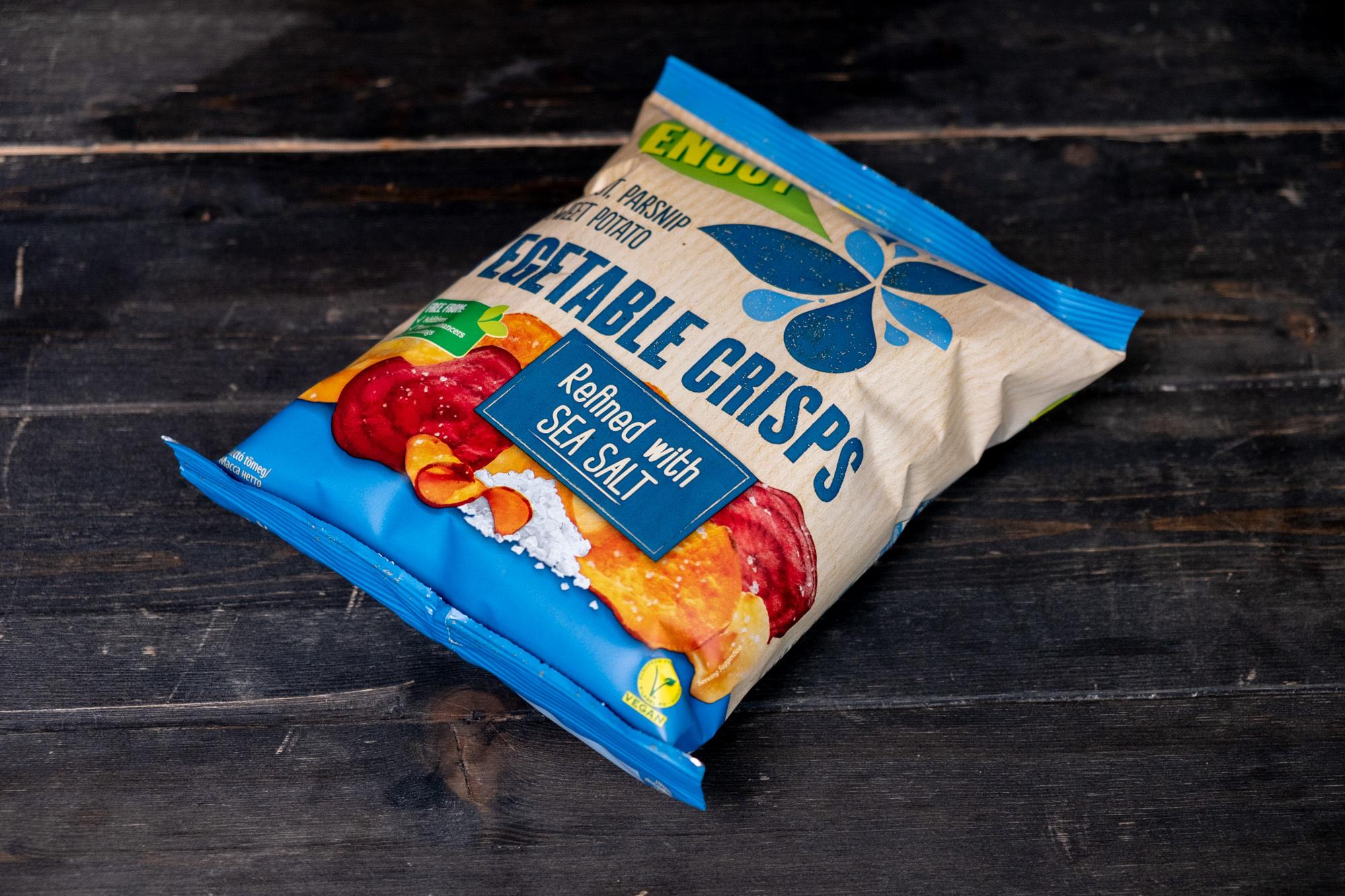 Чипсы овощные с морской солью, 75г,