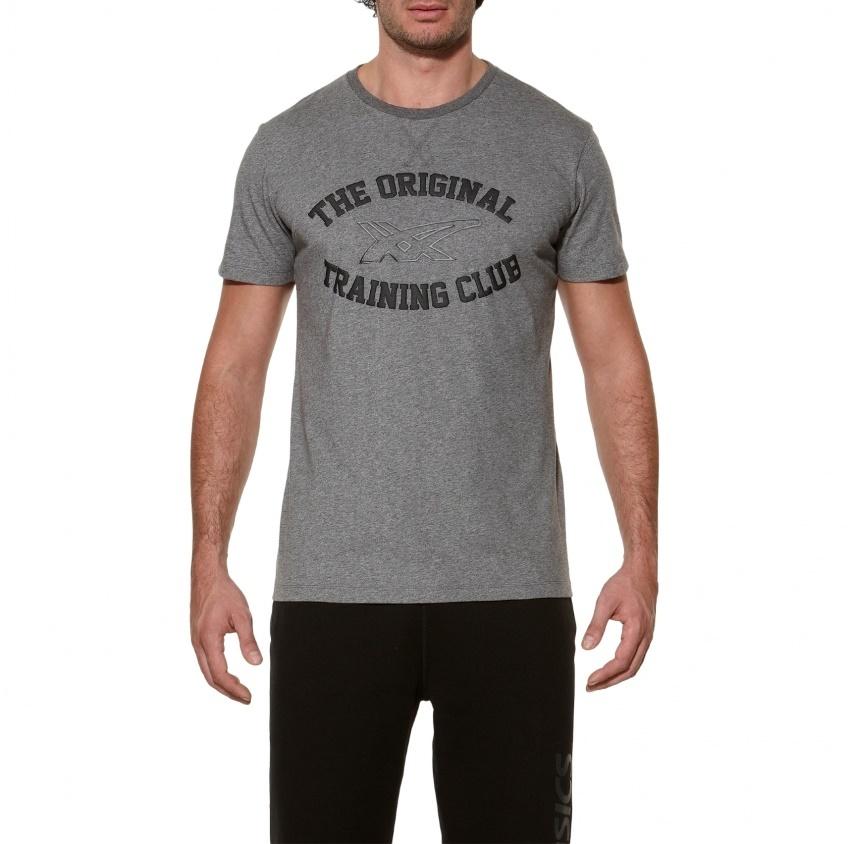 Мужская футболка Asics Graphic SS Top (125074 0773) серая фото