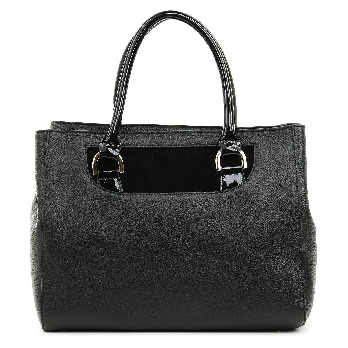 3015 FD кожа /замша/лак черный (сумка женская)
