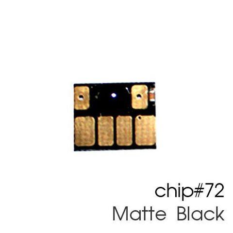 Чип матовый черный для картриджей (ПЗК/ДЗК) HP 72 Matte Black для DesignJet T790, T795, T610, T2300, T770, T1300, T1200, T1120, T620, T1100 (авто обнуляемый)