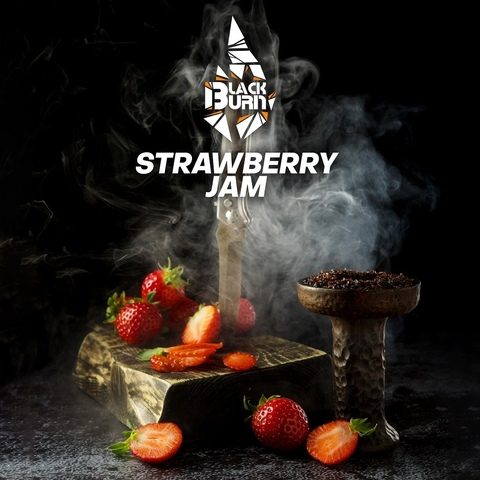 Табак Burn Black Strawberry Jam 200 г