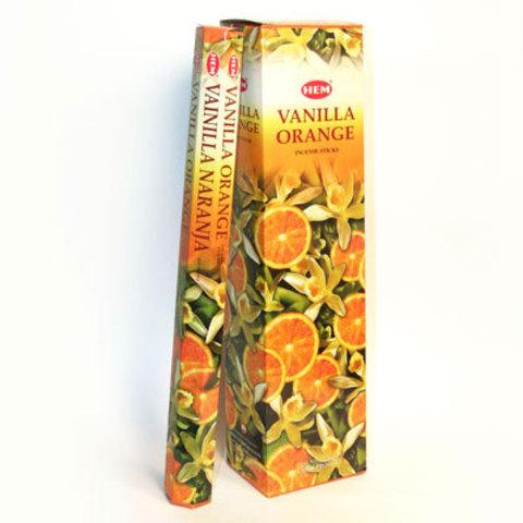 Благовония HEM LONG HEXA Ваниль с апельсином длинные