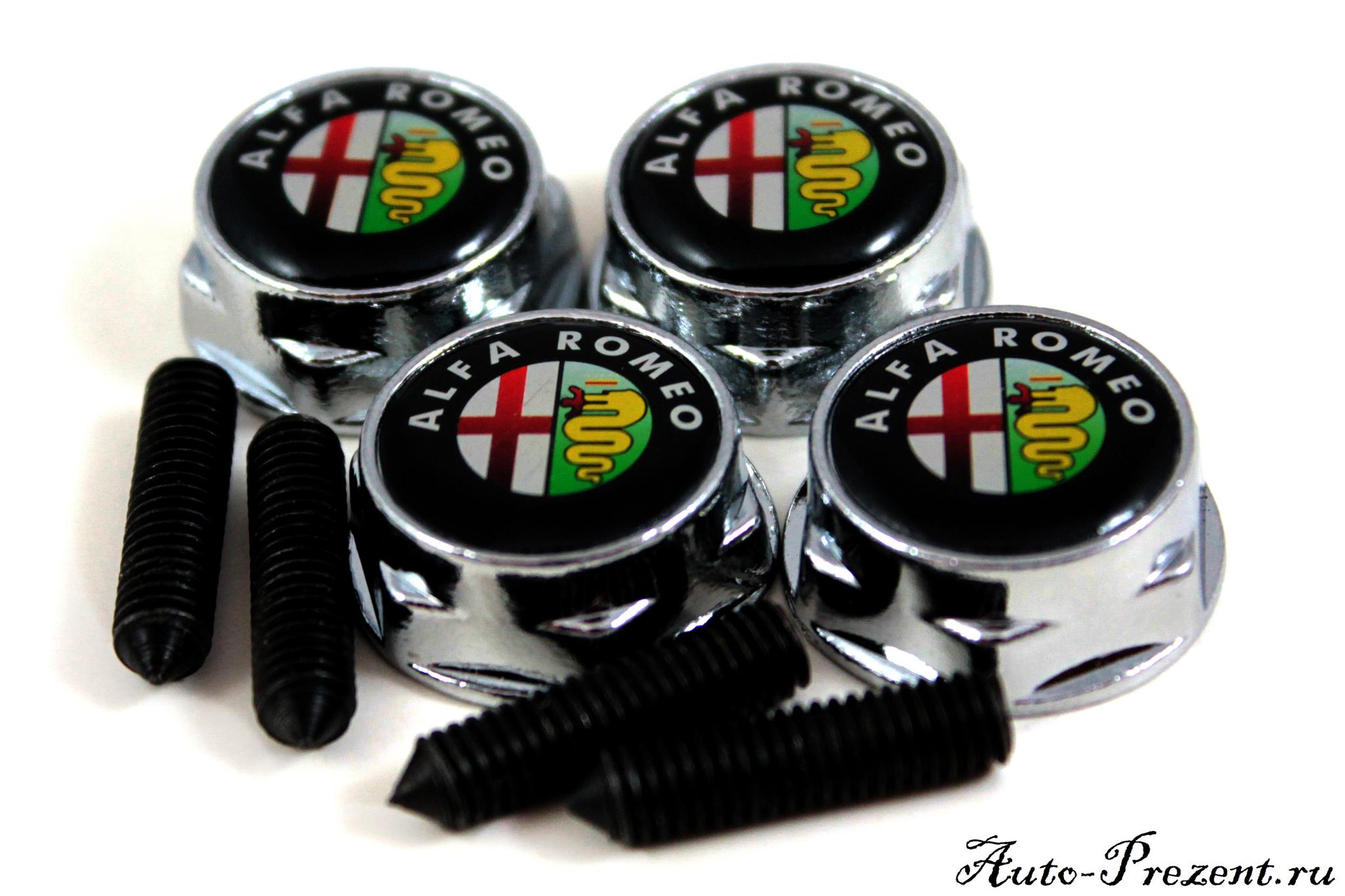 Болты для крепления госномера с логотипом ALFA ROMEO