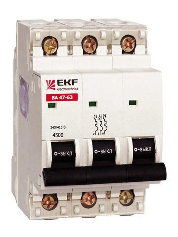 Автоматический выключатель (автомат) 3Р 25А ВА 47-63 TDM / EKF