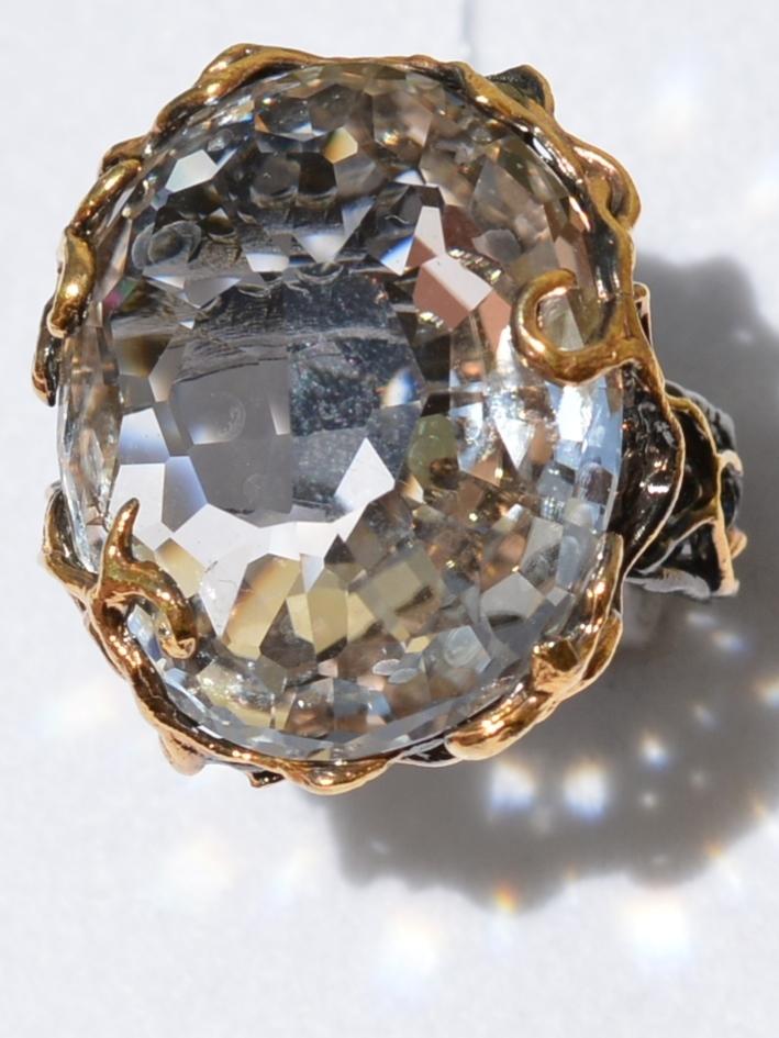 Рашель (серебряное кольцо с позолотой)